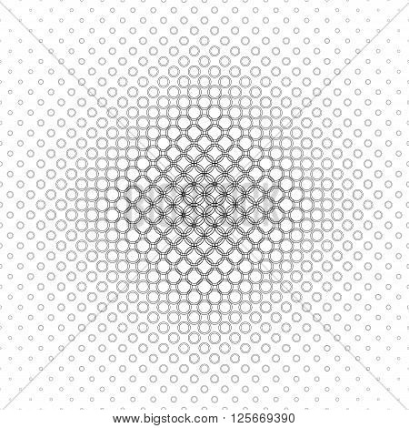 Monochrome abstract circle pattern design background vector