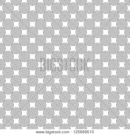 Repeating monochrome abstract circle pattern design background