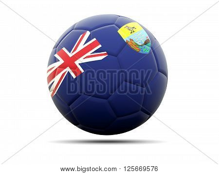Football With Flag Of Saint Helena