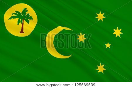 Flag of Territory of the Cocos (Keeling) Islands also called Cocos Islands and Keeling Islands is a territory of Australia located in the Indian Ocean