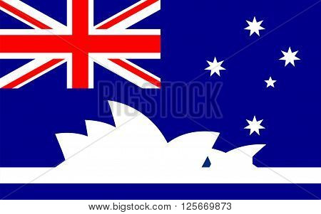 Flag of Sydney is the state capital of New South Wales and the most populous city in Australia and Oceania
