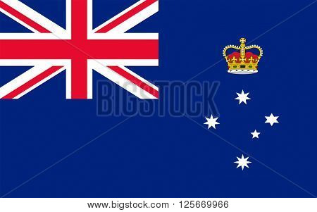 Flag of Victoria (Vic) is a state in the south-east of Australia. Most of its population is concentrated in the area surrounding Port Phillip Bay which includes the metropolitan area of its capital and largest city