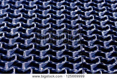 Blue Plastic Floor Cover Texture.