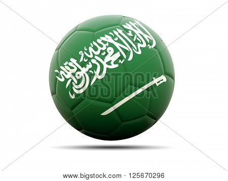Football With Flag Of Saudi Arabia