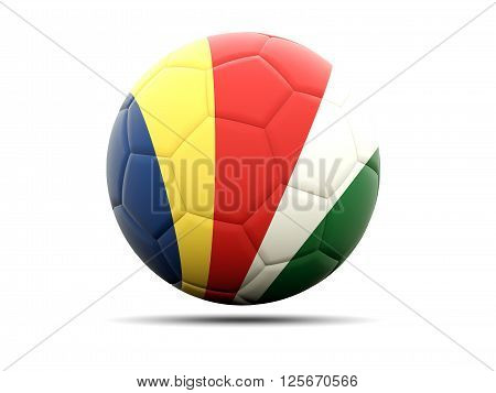 Football With Flag Of Seychelles