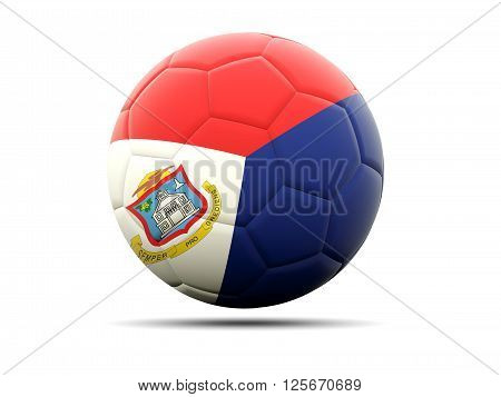Football With Flag Of Sint Maarten