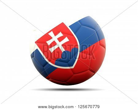 Football With Flag Of Slovakia