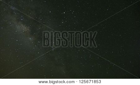 Milky Way And Star In Galaxy