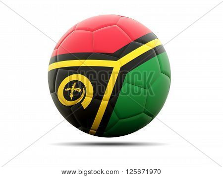 Football With Flag Of Vanuatu