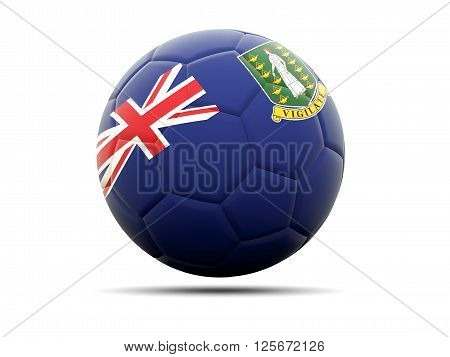 Football With Flag Of Virgin Islands British