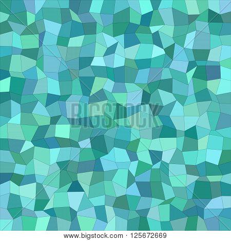 Teal color irregular rectangle mosaic vector background