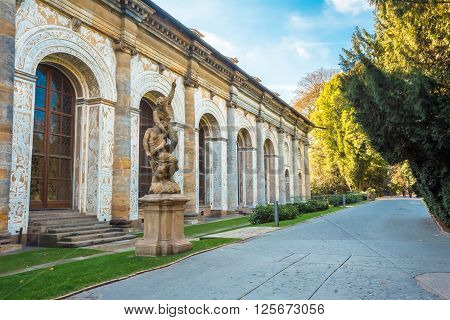 PRAGUE, CZECH REPUBLIC - OCTOBER 9, 2014: Ball Game Hall in the Royal Garden in Prague, Czech Republic. First built by in mid 16th century.