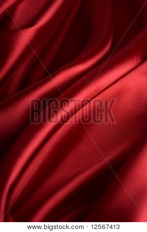 Valentine Background.Red Silk