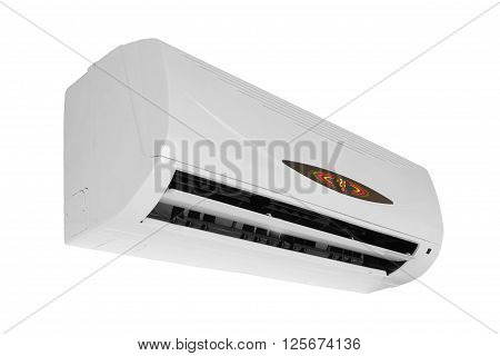 White air conditioner system isolated on white background