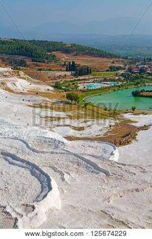 Asia  Abstract In Pamukkale Turkey
