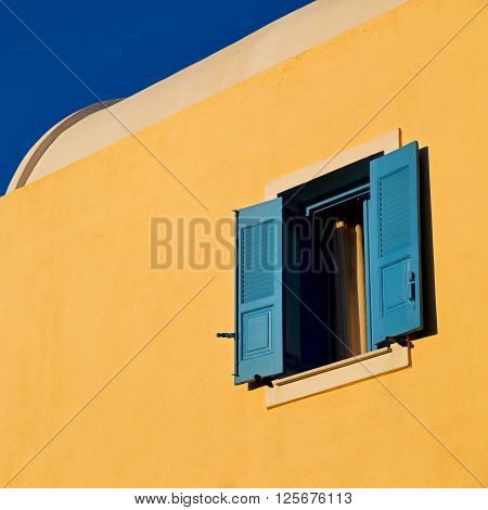 Santorini Greek Island Old House In The Sky And Home Architecture Background