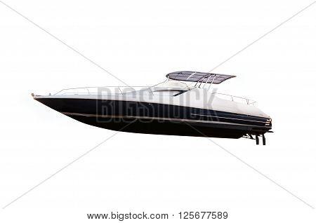 Motor speed boat isolated on white background