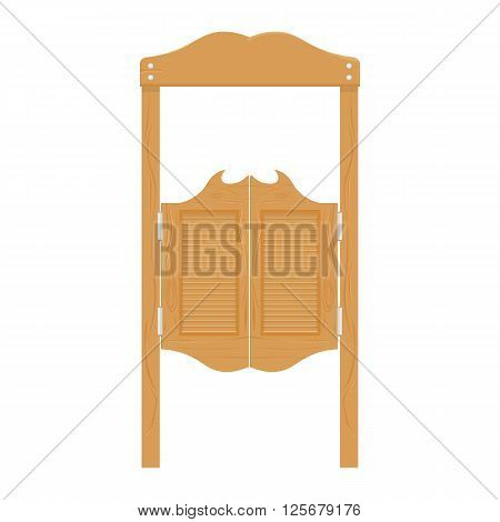 doors in western saloon wild west vector illustration. saloon doors isolated on white background