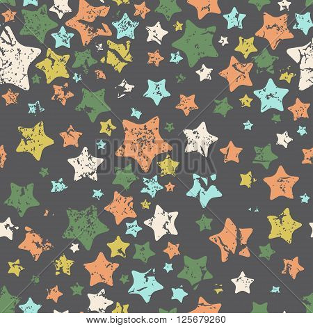 Stars seamless pattern. Vector illustration. Coloful vector illustration for your design