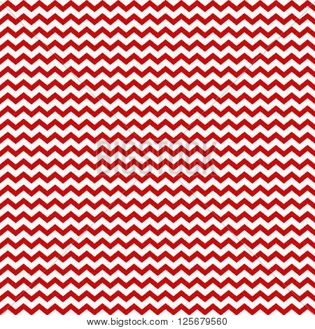 Vector chevron geometric seamless pattern. zig zag red and white background