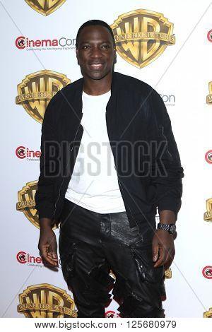 LAS VEGAS - APR 12: Adewale Akinnuoye-Agbaje at the Warner Bros. Pictures Presentation during CinemaCon at Caesars Palace on April 12, 2016 in Las Vegas, Nevada