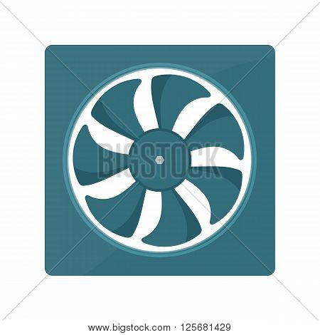 Radiator fan vector illustration. fan radiator isolated on white background
