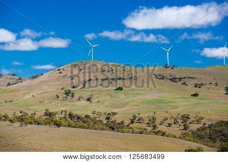 A wind farm near the town of Dalgety, New South Wales, Australia