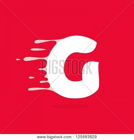 G Letter Logo Made Of Milk.
