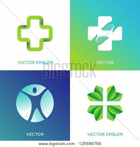 Vector Set Of Logo Design Template In Bright Gradient Colors
