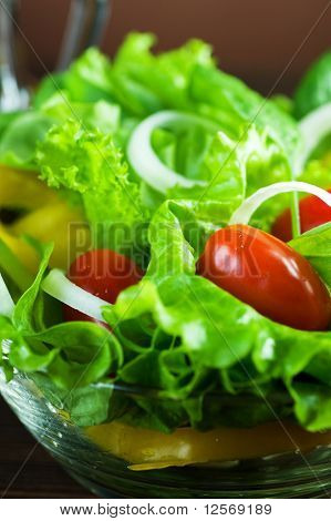 Healthy Fresh Vegetable Salad closeup