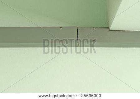 gray of Channel steel on cement wall