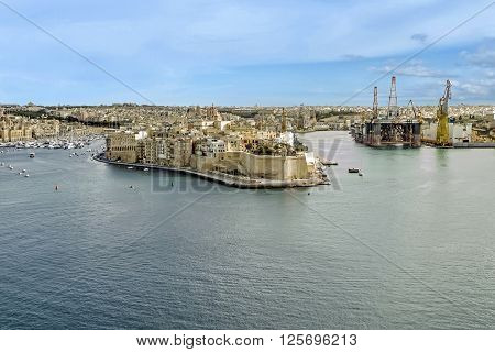 A View Of The Fortress Near Malta