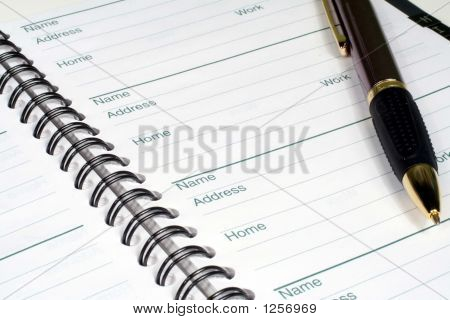 Address Book And Pen