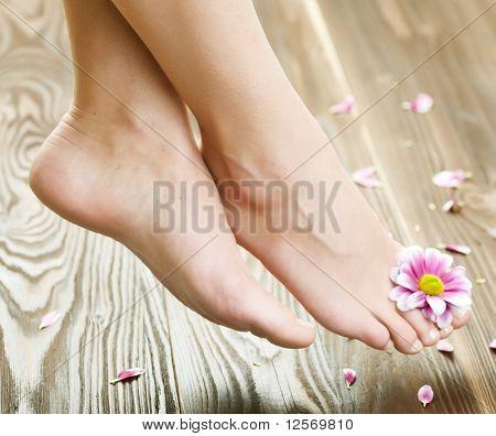Beautiful Woman's Feet.Spa