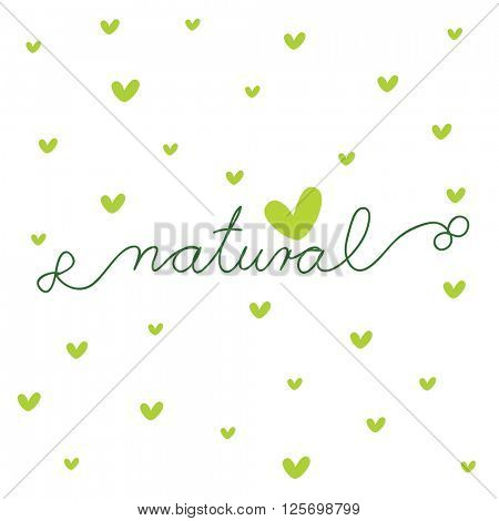 Natural - design template with copy space