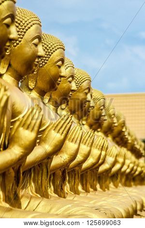 Golden Buddha at Buddha Memorial park in Thailand