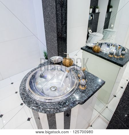 Fancy new and marble basin in antique style