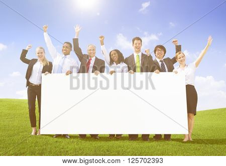 Business Advertise Banner Placard Group Team Concept