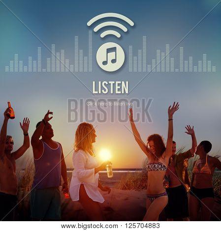 Listen Listening Music Radio Entertainment Concept