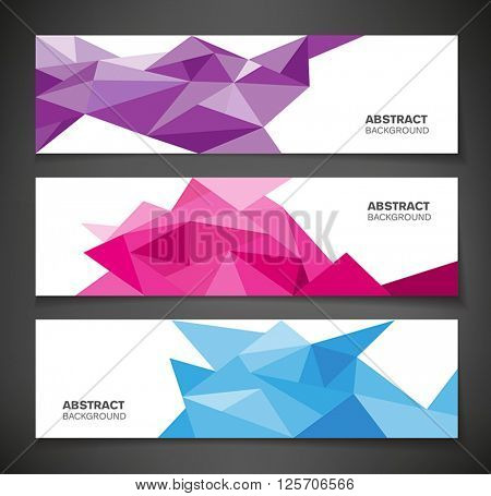 Abstract geometric background - colorful banners with geometric shapes.