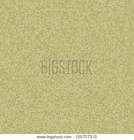 Seamless mixed khaki polka dot pattern. Vintage polka dot paper. Digital paper for scrapbook. Classic polka dot seamless background.