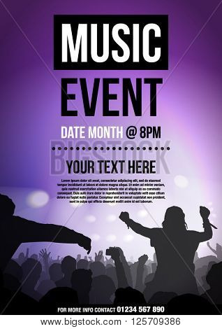 Template For Poster Advertising Music Event