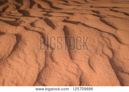 Wave of desert sand after the erosion by wind Arizona desert Monument Valley