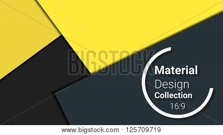 modern template for presentation. vector illustration. designed for business background, education, web, brochure, flyer. abstract creative concept layout template in yellow, black, grey colors