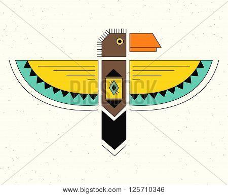 Native American Indian Symbol. Geometric flat style.