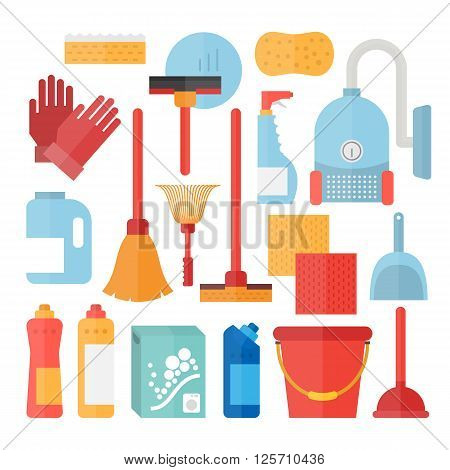 Cleaning service supplies. Household equipment for clean house