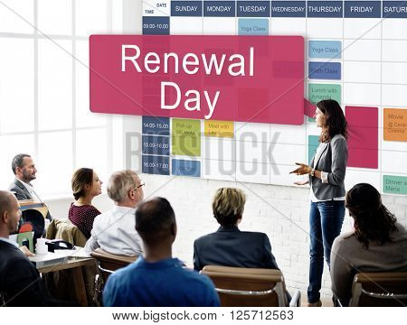 Renewal Day Introduction Presentation Concept