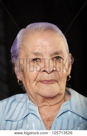 Portrait Of Old Grandma