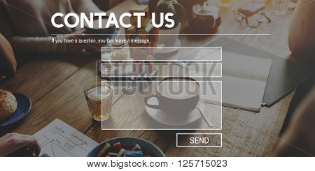 Contact Us Business Correspondence Customer Concept