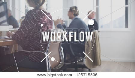 Work Flow Success Organization Strategy Steps Concept